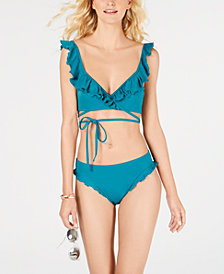 SUNDAZED Ruffled Bikini Top & Bottoms, Created for Macy's