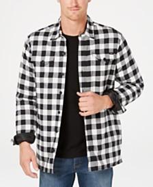 Dickies Men's Fleece-Lined Plaid Flannel Shirt Jacket