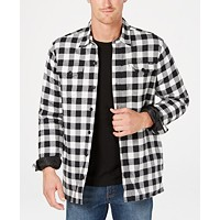 Deals on Dickies Men's Fleece-Lined Plaid Flannel Shirt Jacket