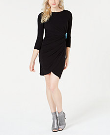 Just Cavalli Ruched 3/4-Sleeve Bodycon Dress