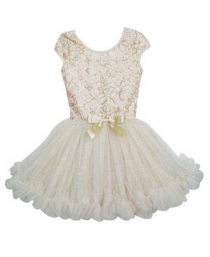 A Beautiful Petti Dress Embellished With Sequin Flowers On Its Bodice