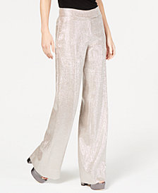 Rachel Zoe Metallic Wide-Leg Eden Pants