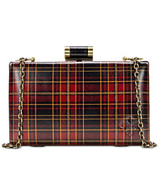 Patricia Nash Alora Tartan Plaid Leather Clutch