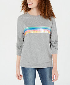 Rebellious One Juniors' Rainbow-Stripe Top