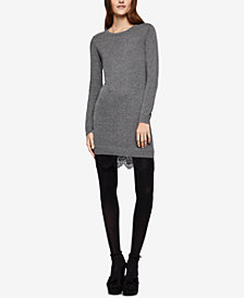 BCBGeneration Lace-Hem Sweater Dress