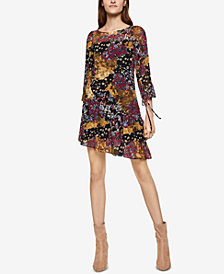 BCBGeneration Printed Asymmetrical Hem Dress