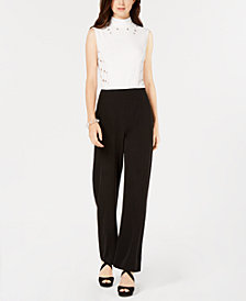 XOXO Juniors' Grommet Mock-Neck Jumpsuit