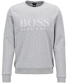 BOSS Men's Slim-Fit Logo Graphic Cotton Sweatshirt