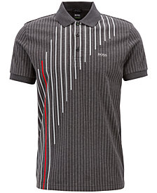 BOSS Men's Regular/Classic-Fit Pinstripe Cotton Polo