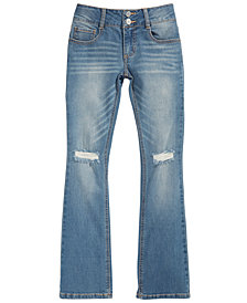 Vanilla Star Big Girls Destructed Boot Cut Jeans