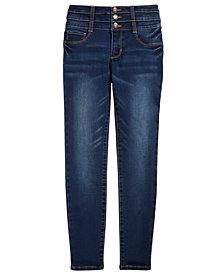 Vanilla Star Big Girls Triple-Snap Skinny Jeans