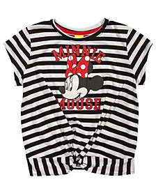 Disney Big Girls Striped Minnie Mouse T-Shirt
