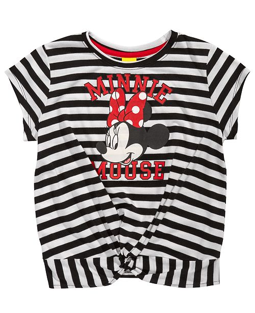 6549a4a38822 Disney Big Girls Striped Minnie Mouse T-Shirt & Reviews - Shirts ...