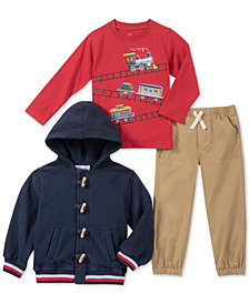 Kids Headquarters Toddler Boys 3-Pc. Jacket, Shirt & Joggers Set