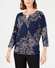 JM Collection Embellished Dolman Top, Created for Macy's