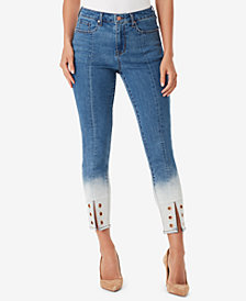 WILLIAM RAST Split-Hem Grommeted Jeans