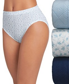 Jockey Elance Breathe Cotton French Cut Underwear 3 Pack Underwear 1541, Extended Sizes