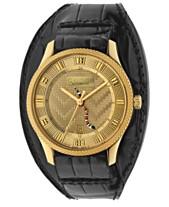 c30c1fbe2bb1 Gucci Men's Swiss Automatic Eryx Black Alligator Leather Cuff Strap Watch  40mm