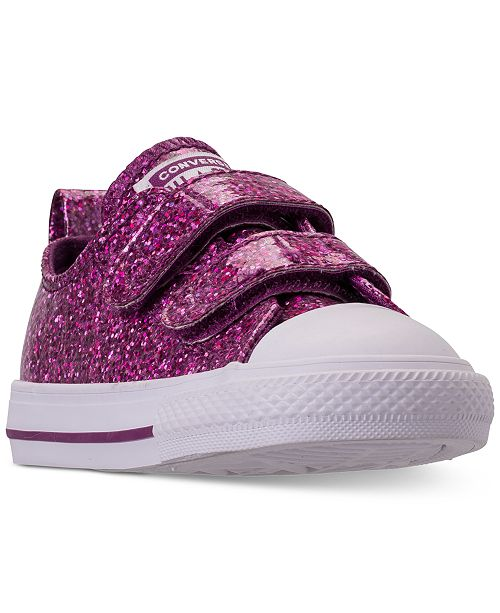 40c60acd4a90 ... Converse Toddler Girls  Chuck Taylor All Star Party Dress Ox Casual  Sneakers from Finish ...