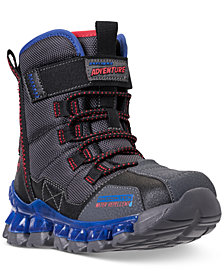 Skechers Little Boys' S Lights: Flashpod Power Breeze Light Up Boots from Finish Line