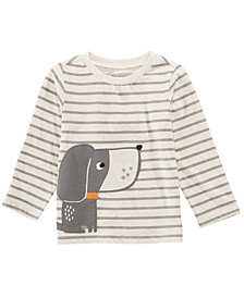 First Impressions Toddler Boys Dog Graphic Striped T-Shirt, Created for Macy's