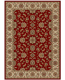 "KM Home Pesaro Meshed Red 7'9"" x 11' Area Rug"