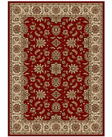 "CLOSEOUT!! KM Home Pesaro Meshed Red 7'9"" x 11' Area Rug"