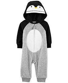 Carter's Baby Boys Hooded Penguin Coverall