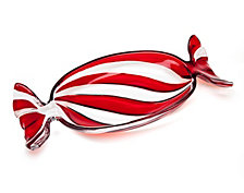 Godinger Holiday Red Peppermint Tray