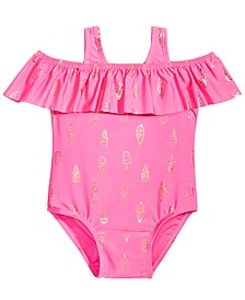 First Impressions Baby Girls Ice Cream-Print Swimsuit, Created for Macy's