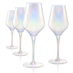 Artland Luster Clear Goblet - Set of 4