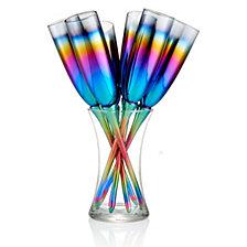 Artland Rainbow 7 Pc Toasting Flute Set