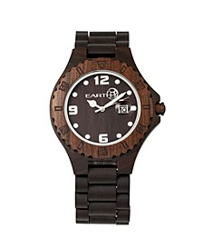 Raywood Wood Bracelet Watch W/Date Brown 47Mm
