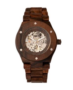 Grand Mesa Automatic Skeleton Wood Bracelet Watch Brown 44Mm