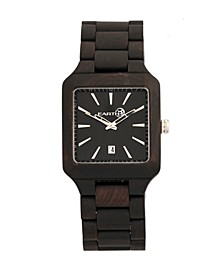 Arapaho Wood Bracelet Watch W/Date Brown 39Mm