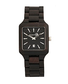 Earth Wood Arapaho Wood Bracelet Watch W/Date Brown 39Mm