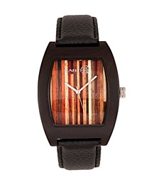Cedar Leather-Band Watch Brown 40Mm
