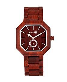 Acadia Wood Bracelet Watch Red 43Mm
