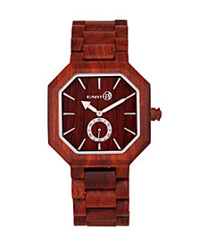 Earth Wood Acadia Wood Bracelet Watch Red 43Mm