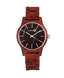 Earth Wood Tuckahoe Marble-Dial Wood Bracelet Watch Red 40Mm