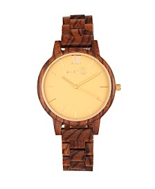 Earth Wood Pike Wood Bracelet Watch Olive 45Mm