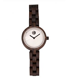 Wisteria Mother-Of-Pearl Wood Bracelet Watch Brown 32Mm