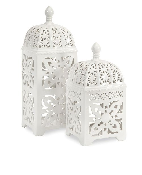IMAX Maya Tealight Lanterns - Set of 2