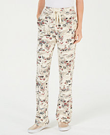 Lucky Brand Cotton Printed Pull-On Pants