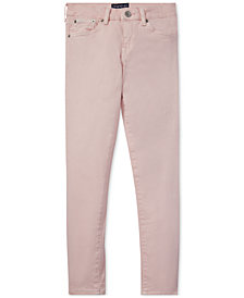 Polo Ralph Lauren Big Girls Pink Pony Cotton Skinny Jeans