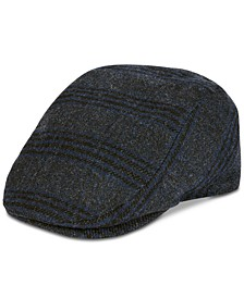 Men's Plaid Flat Top Ivy Hat