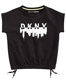 DKNY Big Girls Cotton Short-Sleeve French Terry Top