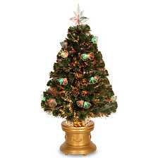 "National Tree 36"" Fiber Optic Double Bell Tree"