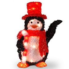 "National Tree PreLit 22"" Tinsel Penguin"