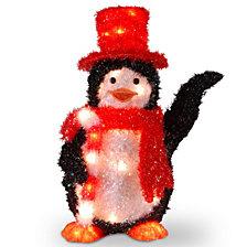 "National Tree PreLit 22"" Tinsel Penguin"
